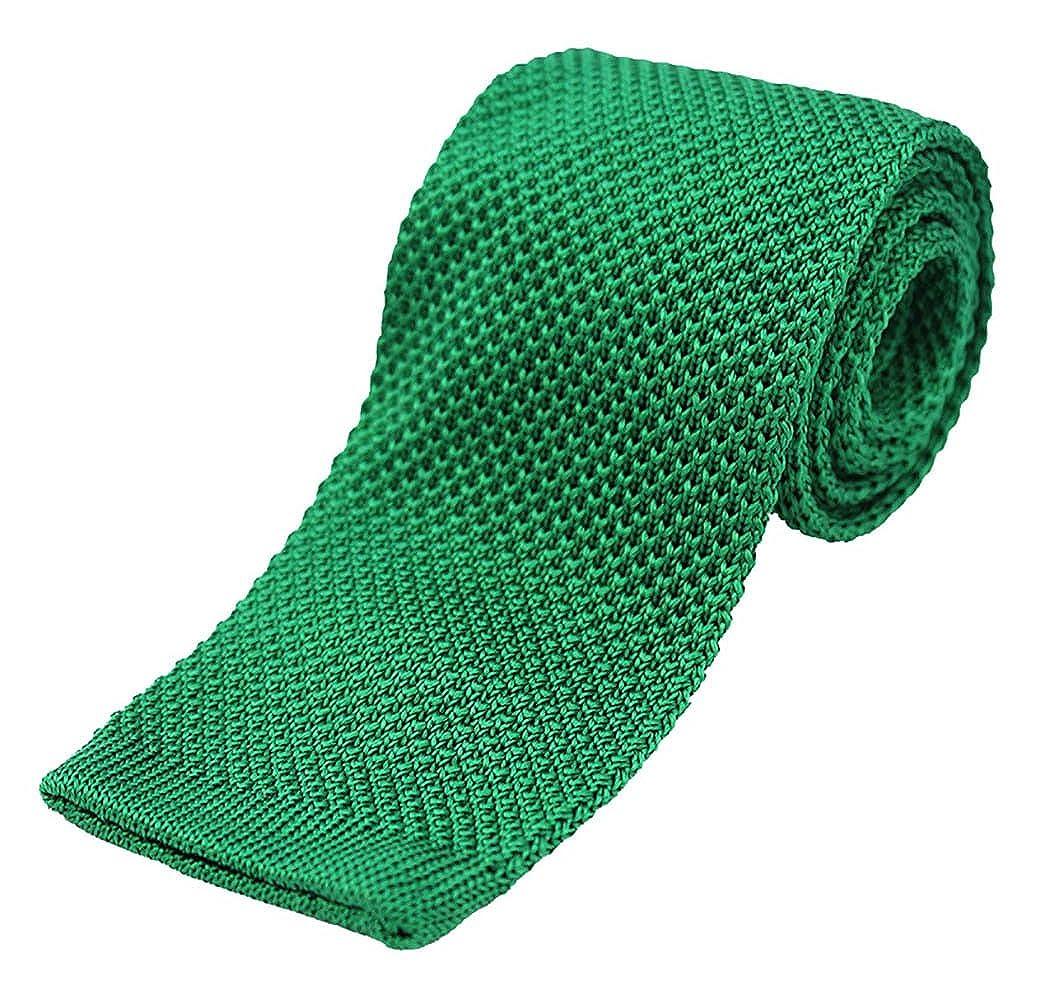 Soprano Plain verde esmeralda de punto seda corbata: Amazon.es ...