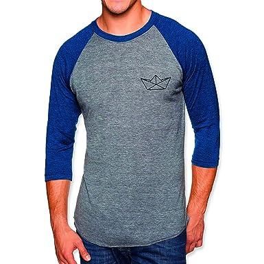 VIENTO Paper Ship Herren T-Shirt 3 4 Ärmel Baseball  Amazon.de ... 7f316b73fd