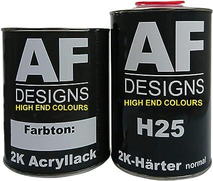 Alex Flittner Designs 1 5 Liter 2k Acryl Lack Autolack Set Für Mercedes Benz Dunkelblau 904 Auto
