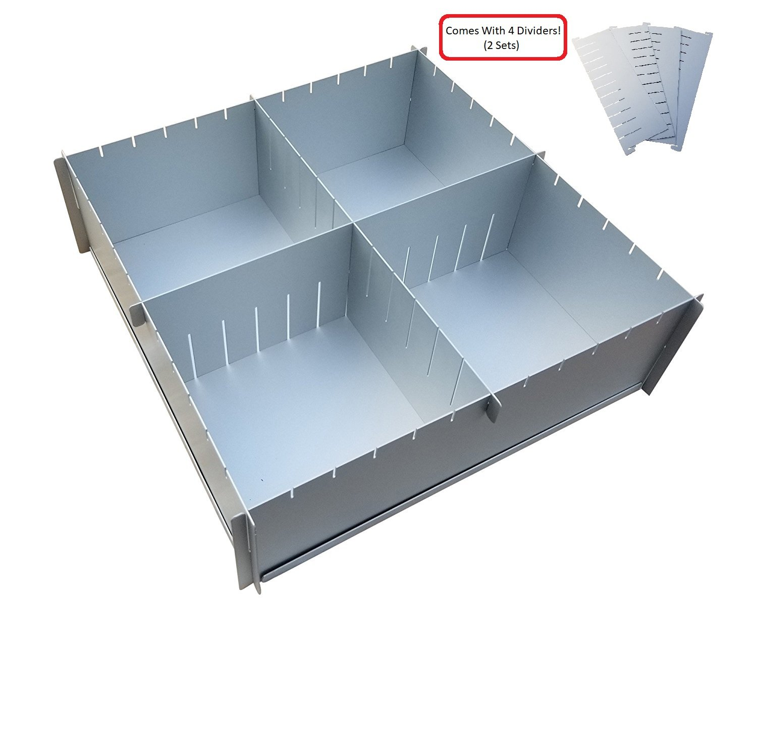 12'' x 4'' Deep Multisize Cake Pan With Extra Set Of Dividers - 4 Dividers Total - By H&L DesignWare by H&L DesignWare (Image #1)
