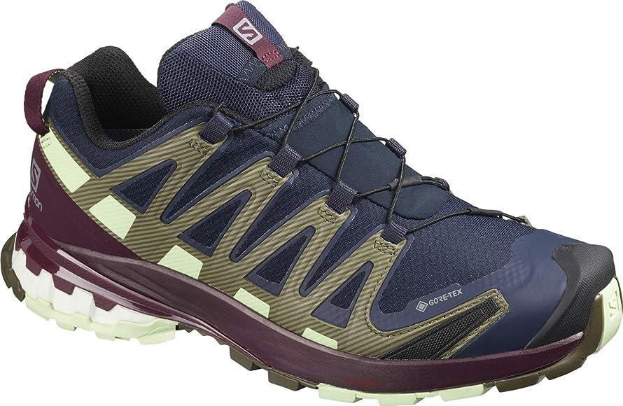 Salomon XA Pro 3D v8 GTX W, Zapatillas de Trail Running para Mujer, Azul Navy Blazer Wine Tasting Patina Green, 43 1/3 EU: Amazon.es: Zapatos y complementos