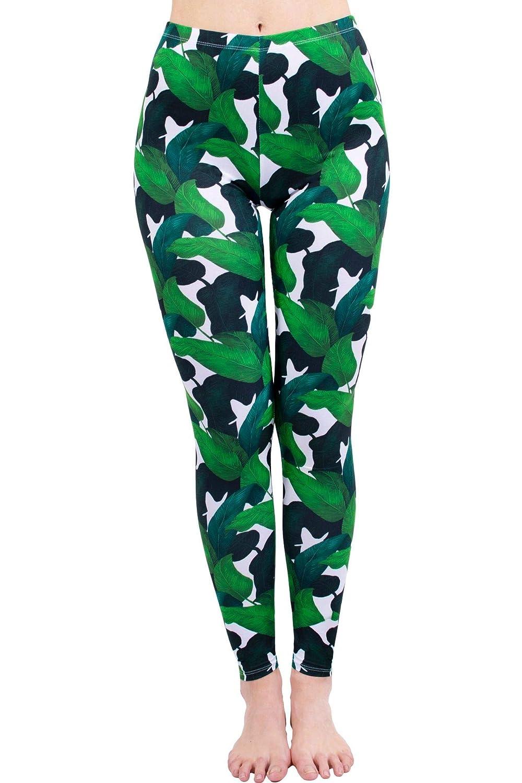 MAOYYMYJK Yoga-Hose Für Damen Leggings 3D-Digitaldruck Abgeschnittene Hose