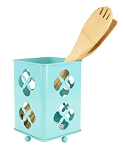 Home Basics Trinity Collection Pantryware Organization Set, Turquoise (Cutlery Holder)
