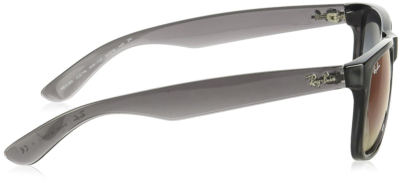 Ray-Ban RAYBAN Herren Sonnenbrille 0RB4165 606 U0 55, Transparent  Grey Greygradientmirrorred  Amazon.de  Bekleidung df8823eced59