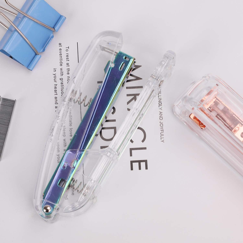 Acrylic Stapler 25 Sheet Capacity Clear Desktop Stapler Jam-Free ...