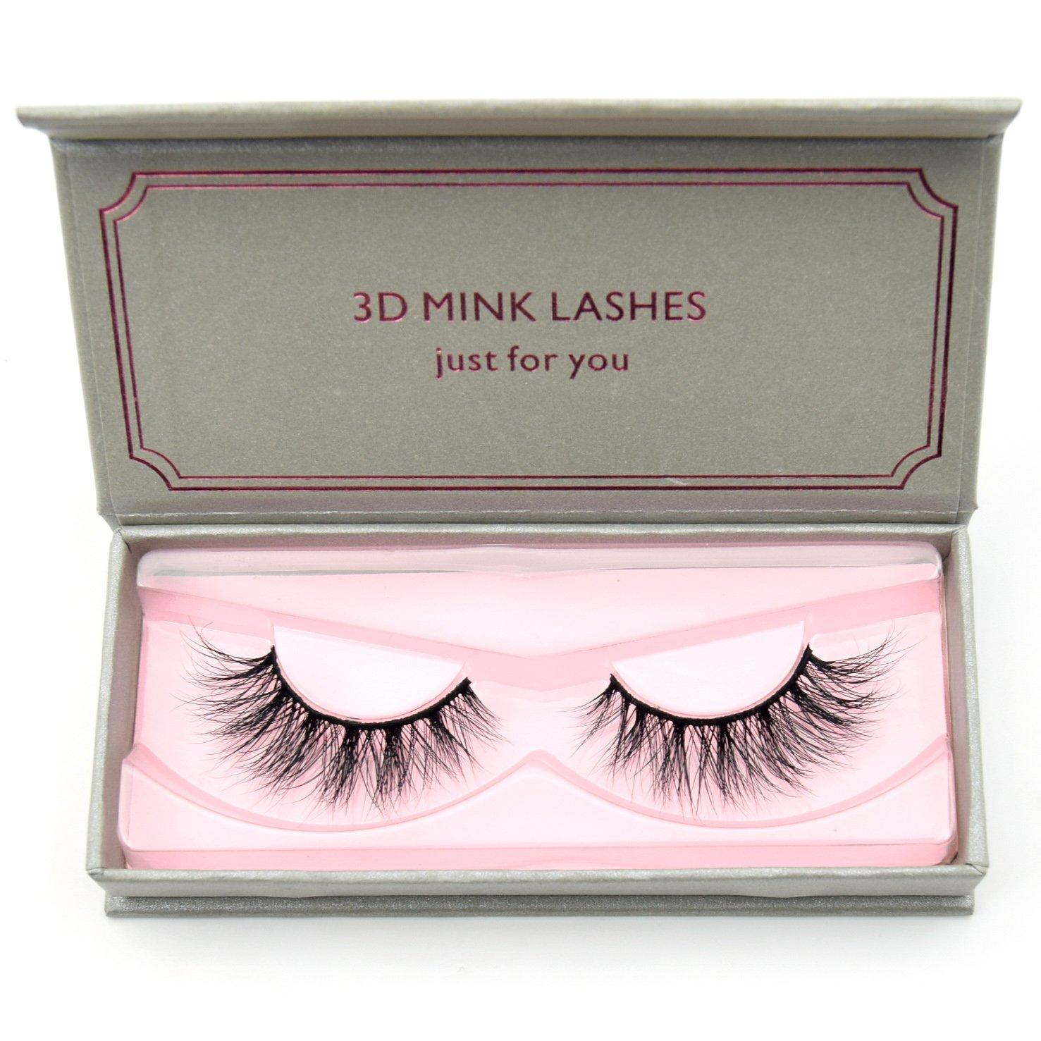 dbc0d215515 Amazon.com : Visofree Eyelashes Mink Eyelashes Cruelty-free Medium Volume  3D Mink Strip Eyelashes Natural False Eyelashes (E01) : Beauty