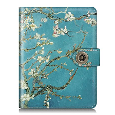 5153080cb83a Fintie Passport Holder Cover Case, Premium Vegan Leather RFID Blocking  Travel Wallet with Snap Closure, Blossom