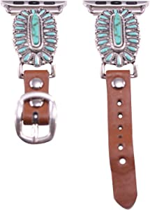 40mm/38mm Compatible for Apple Watch, Delicate Western Slim Turquoise Watch Band No. 12