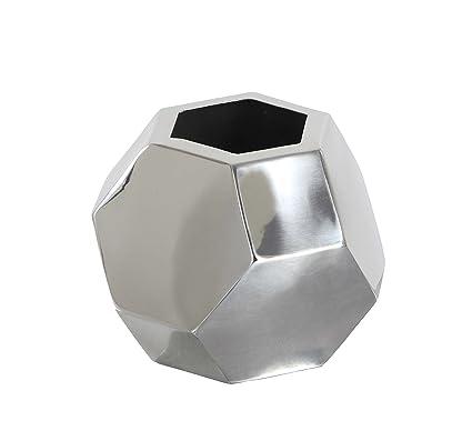 Amazon.com: Deco 79 90931 Stainless Steel Round Geometric Vase, 6