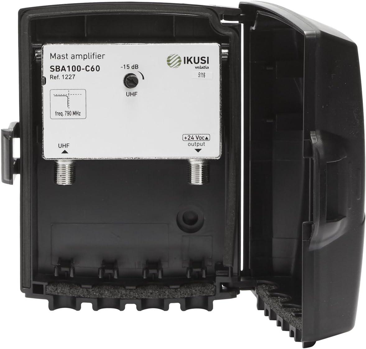 Amplificador de mástil para antena IKUSI SBA100-C60: Amazon ...
