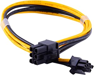 JacobsParts PCI Express Mini 6-pin to 6-pin PCI-e Video Card Power Cable for Apple Mac Pro Tower / Power Mac G5