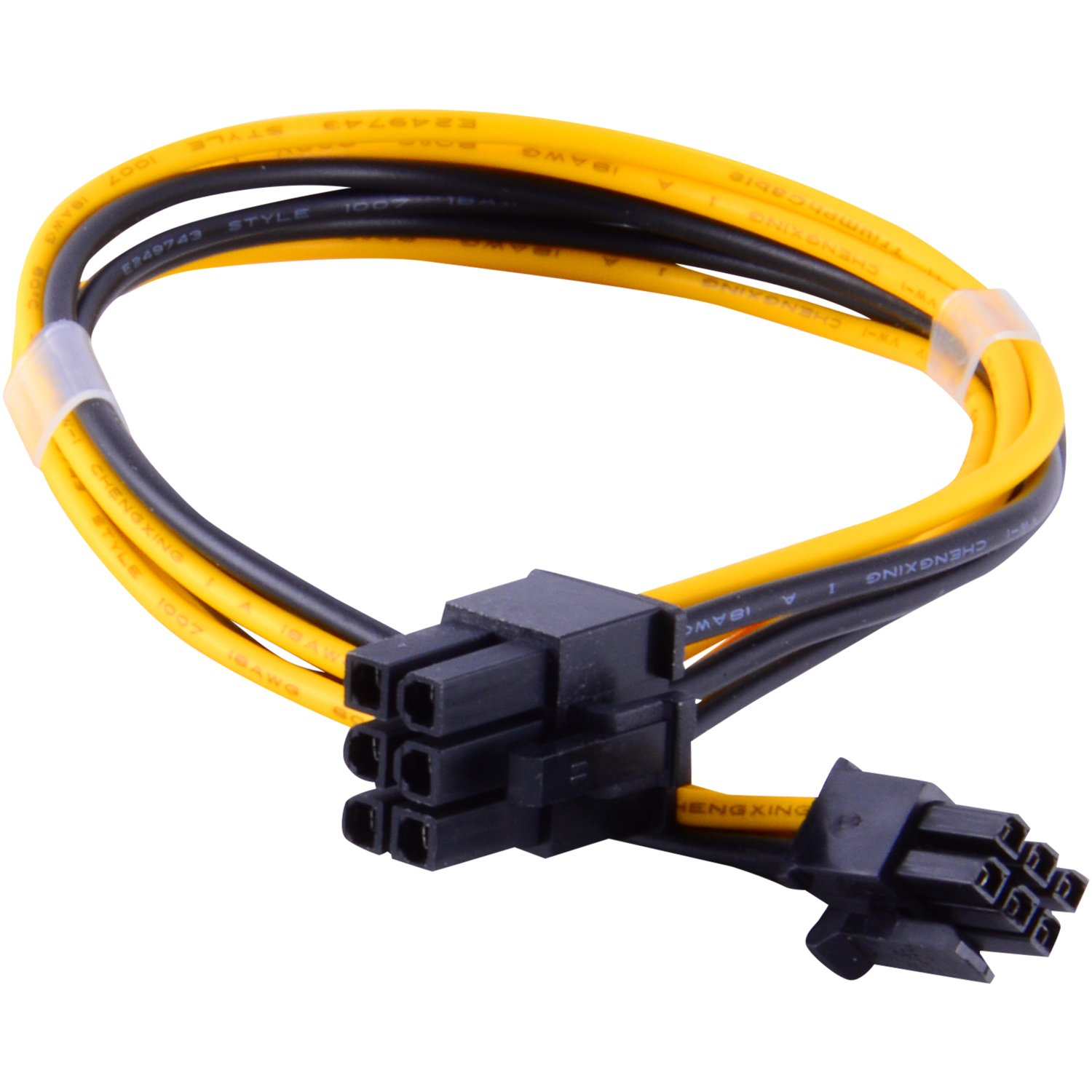 how to connect 6 pin riser from sata psu