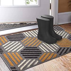 "Color&Geometry Indoor Doormat, Outdoor Indoor 32""x48"" Mat Waterproof, Non Slip Washable Quickly Absorb Moisture and Resist Dirt Rugs for Entrance"