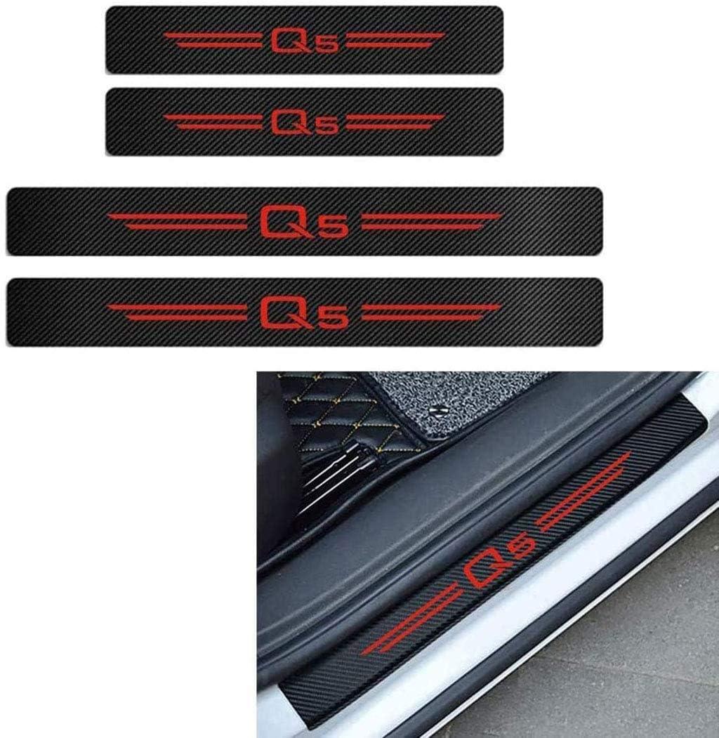 Protecteurs Style Voiture Garde P/édale Plaque dusure Seuil pour Audi A4 A3 Q5 Q3 S3 S4 S Line Car Door Sill Garniture Autocollants GLFDYC 4Pcs Barres de Seuil en Fibre de Carbone