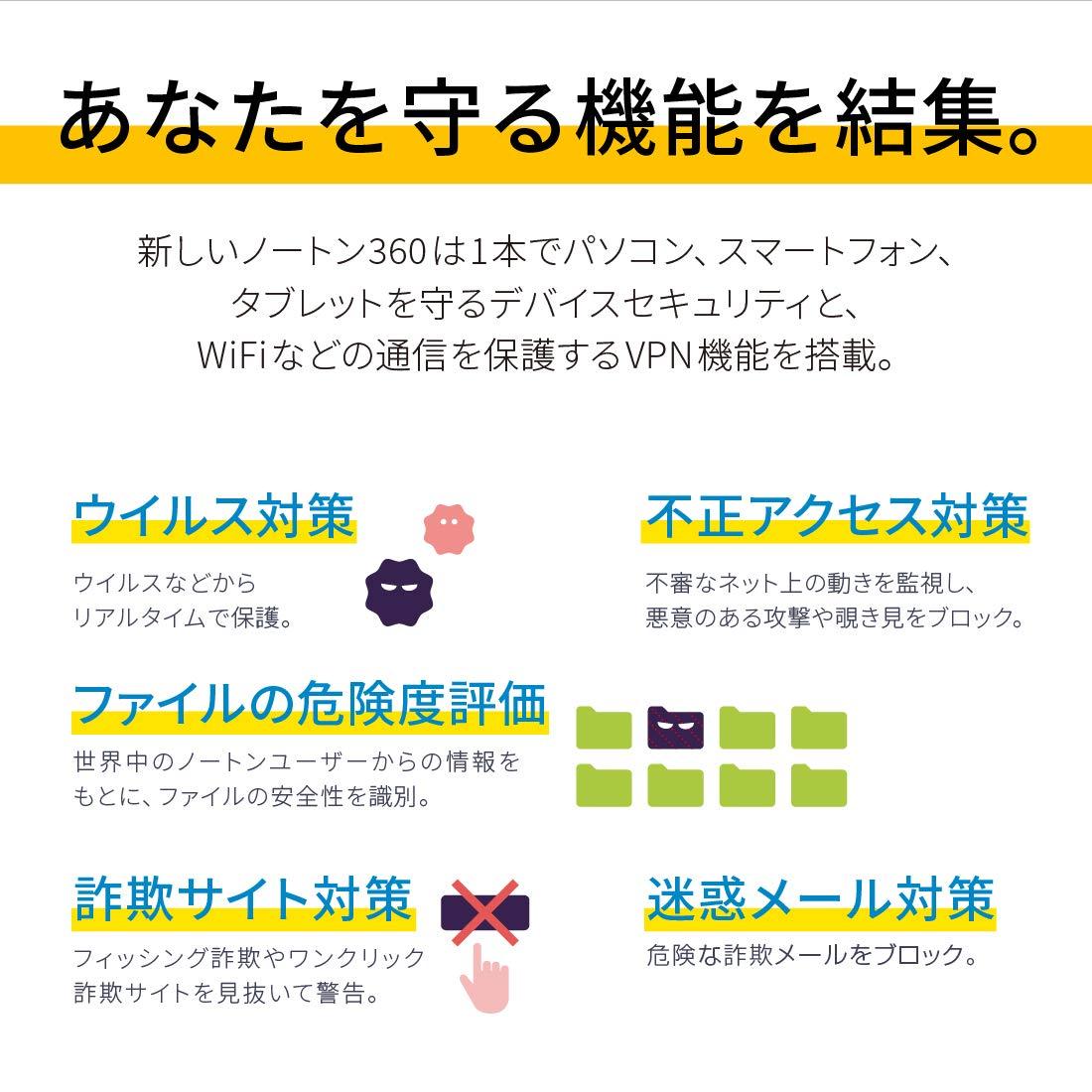 ノートン 360 デラックス セキュリティソフト 最新 3年3台版 オンラインコード版 Win Mac Ios Android対応