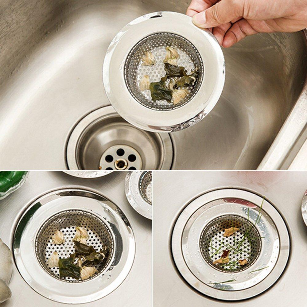 filtro de metal para fregadero ba/ño ba/ñera Filtro de rejilla de acero inoxidable para fregadero colador de repuesto para fregadero de cocina desag/üe de cabello