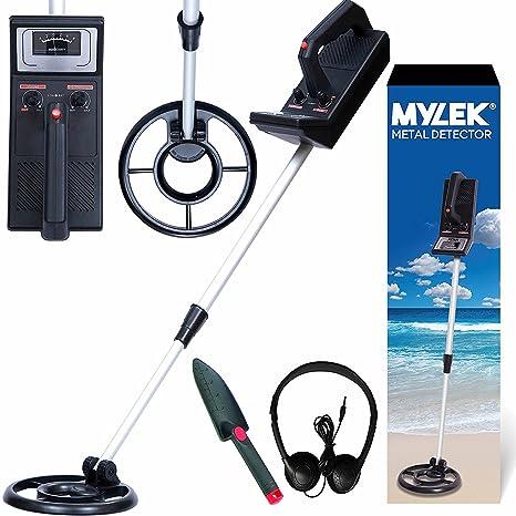 Mylek detector de metales Kit auriculares pala, detecta todos Oro, Plata, metales no