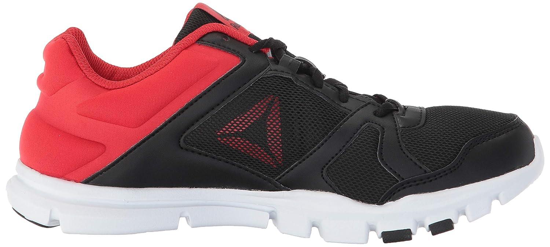 Reebok Yourflex Train 10 Sneaker Black//Primal red 3 M US Little Kid