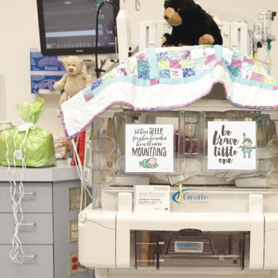 NICU Crib Art from Every Tiny Thing - Decorate Your Baby's NICU Space with Adorable Prints - Brave Boys by Every Tiny Thing (Image #4)