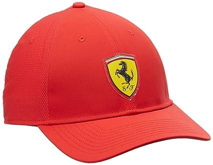 Puma – Gorra Ajustable de Ferrari, Unisex, Mütze Ferrari Fanwear Convert Cap, Rosso