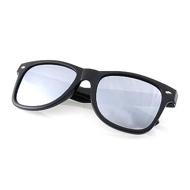 Emblem Eyewear - Rétro d'inspiration Moderne Dapper Carré Demi-Trame Lunettes De Soleil (Noir) VPhbst
