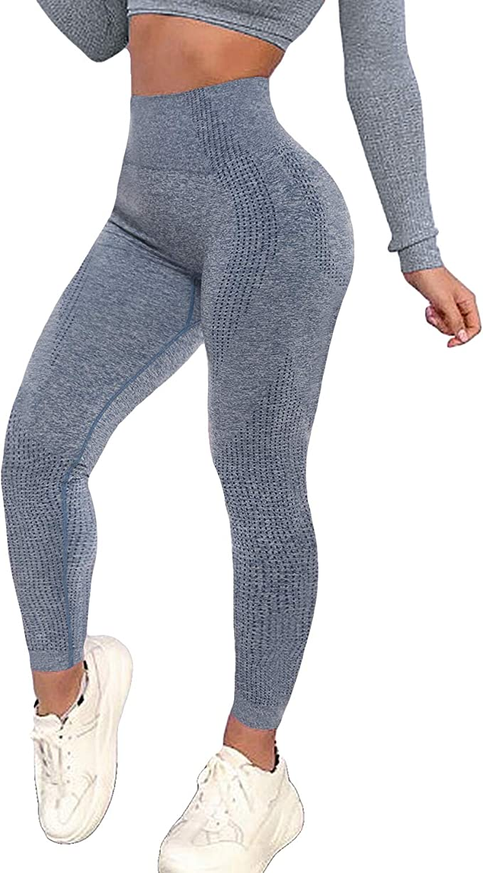 KIWI RATA Women's High Waist Workout Compression Seamless Fitness Yoga Leggings Butt Lift Active Tights Stretch Pants
