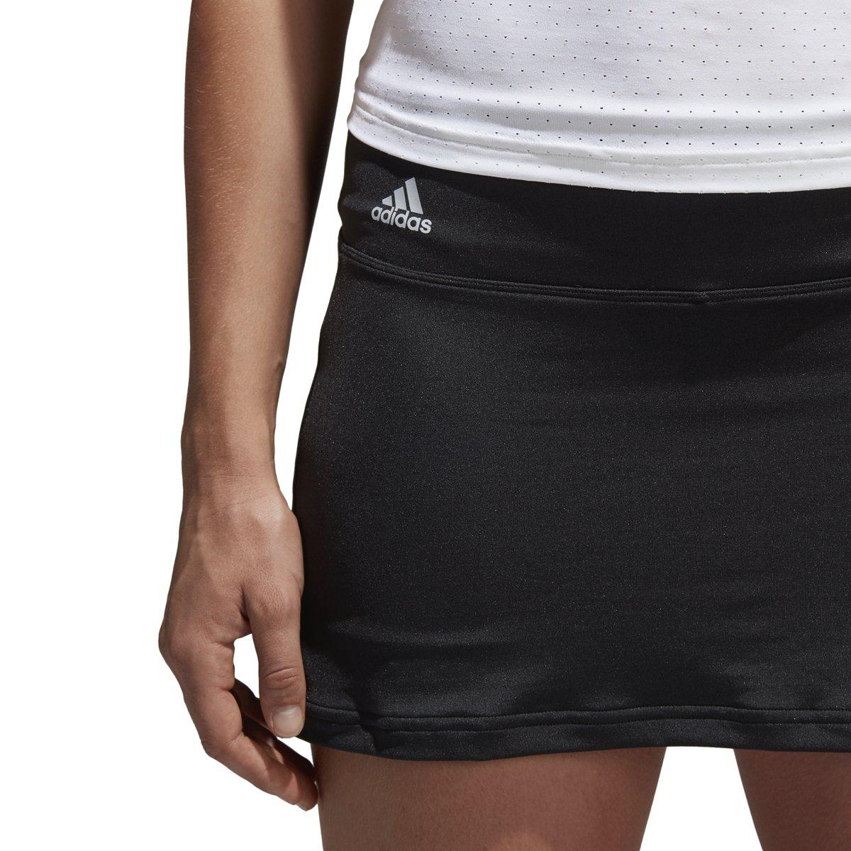 adidas Women's Tennis Essex Skirt, Black, X-Small Long