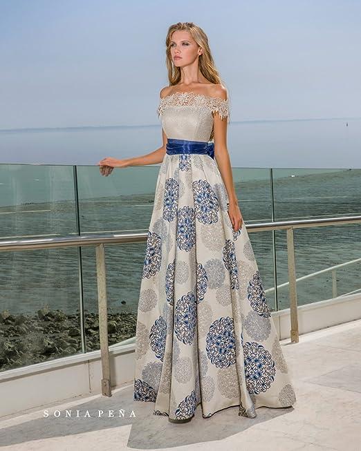 nuova collezione stile limitato elegante e grazioso Sonia Pena Abito 1180263, 46, BLU: Amazon.it: Abbigliamento