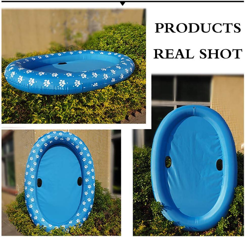 Flotador hinchable para mascotas juguete de agua patas de remo para perros OURLITIME piscina color azul balsas para verano flotador