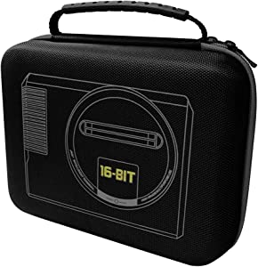 Customized Carrying Case for Sega Genesis Mini 2019 and Accessories-(Full Size)Black