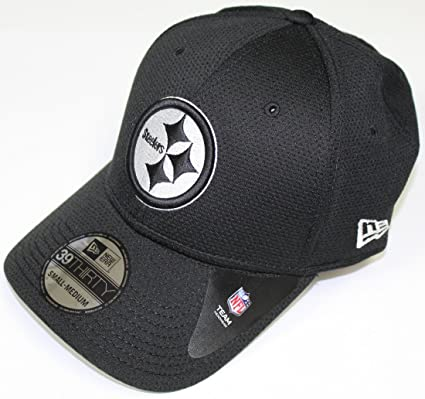 38829d7a5a3 Amazon.com   New Era Pittsburgh Steelers 39THIRTY Black   White Neo ...