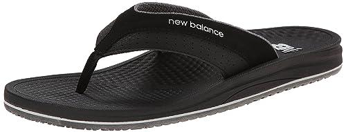 new balance black flip flops