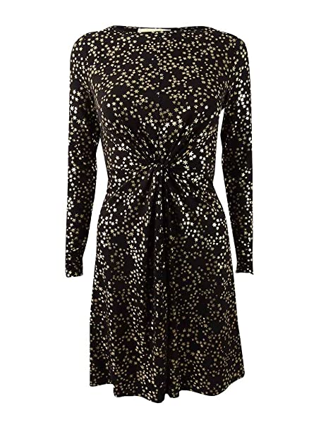 3af760eb7 MICHAEL Michael Kors Womens Plus Star-Foil Print T-Shirt Dress Black 2X:  Amazon.ca: Clothing & Accessories