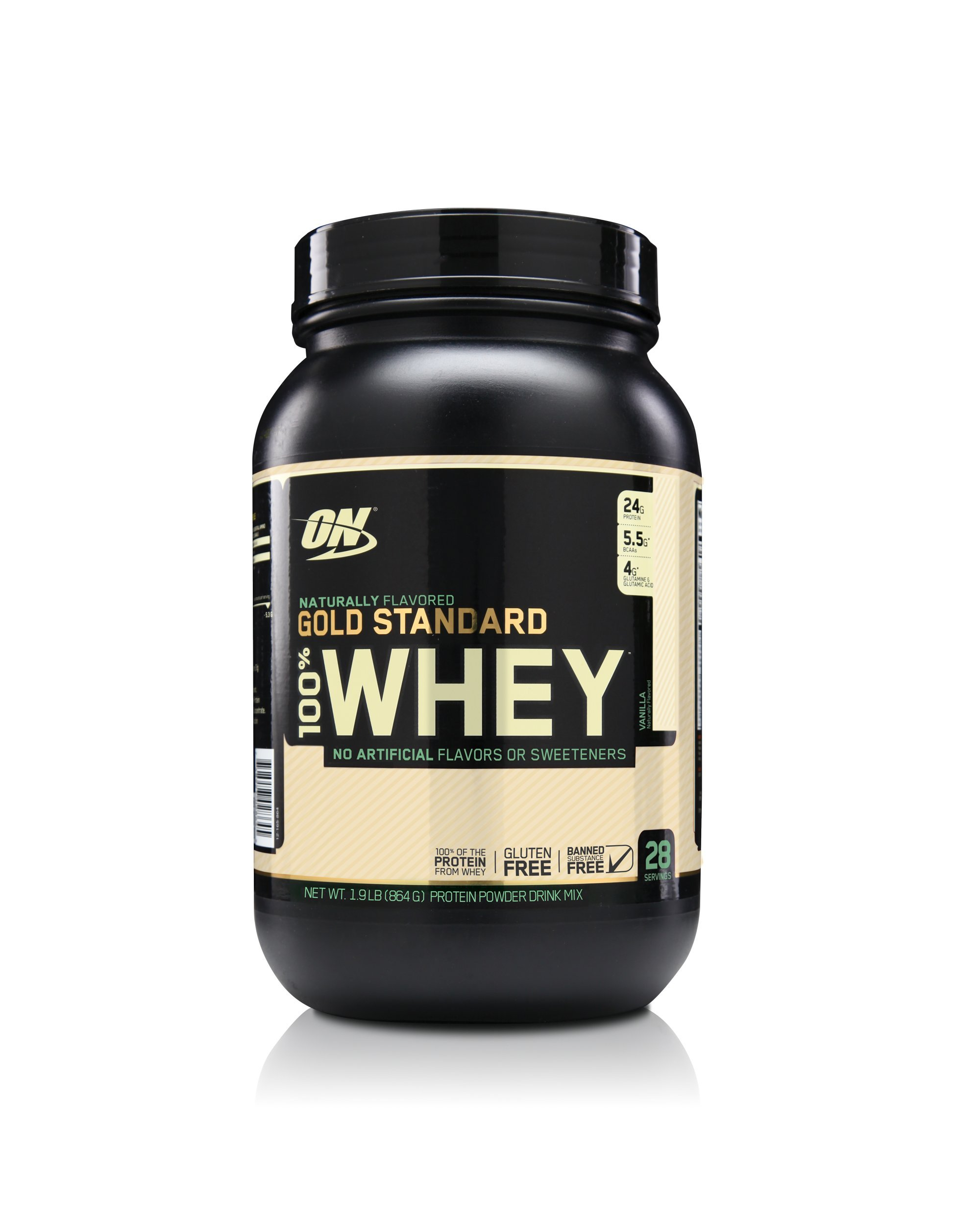OPTIMUM NUTRITION GOLD STANDARD 100% Whey Protein Powder, Naturally Flavored Vanilla, 1.9 Pound by Optimum Nutrition