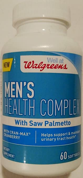 Walgreens Mens Health Complex with Saw Palmetto 60 Softgels