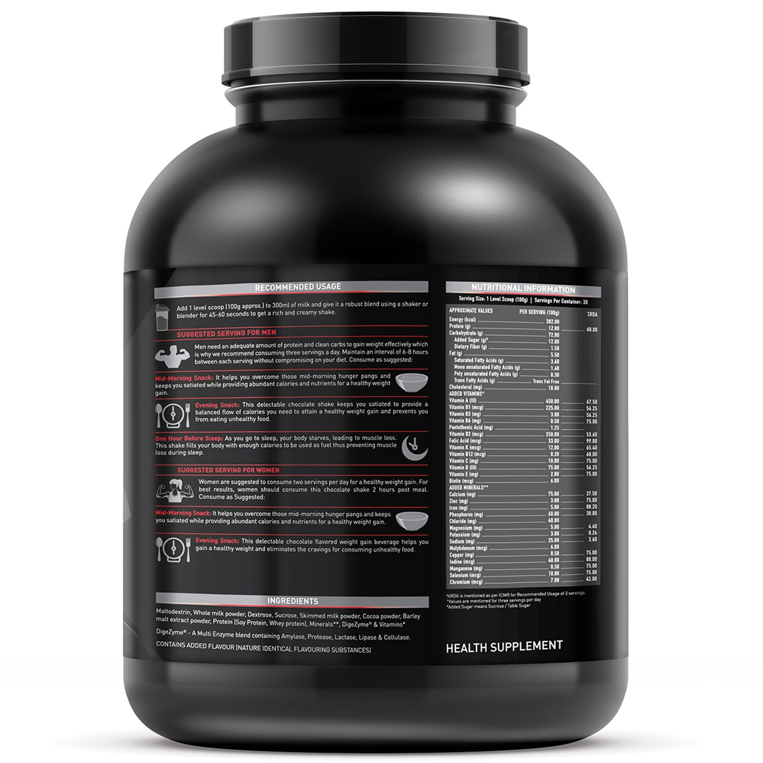 Muscleblaze Weight Gainer Chocolate 3 Kg 6 6 Lb Amazon In