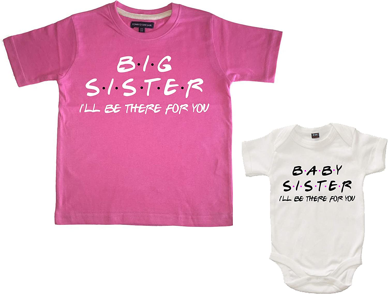 Edward Sinclair Set de regalo a juego con camiseta rosa y body blanco con texto en inglés