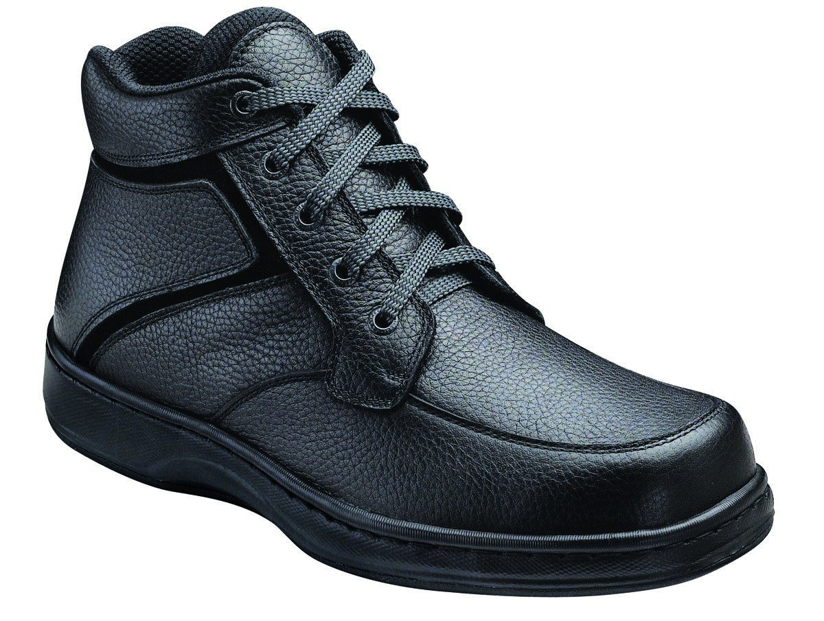 Orthofeet Proven Plantar Fasciitis Relief Comfortable Orthopedic Arthritis Diabetic Men's Highline High Top Boots Black