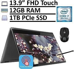 "2020 Premium Lenovo Yoga C930 2-in-1 Convertible Business Laptop, 13.9"" FHD IPS Touchscreen, Intel Core i7-8550U 12GB RAM 1TB PCIe SSD, Fingerprint Thunderbolt Win 10 + ePark Mouse & Active Pen"