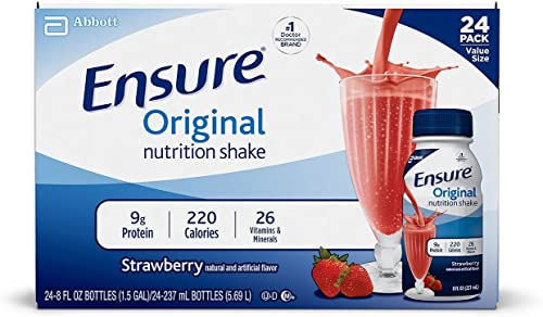 Ensure Original Nutrition Shake, Strawberry 8 fl. oz., 24 count.