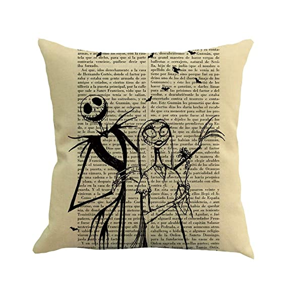 Amazon.com: Pillow Cases Cotton Linen English Newspaper ...