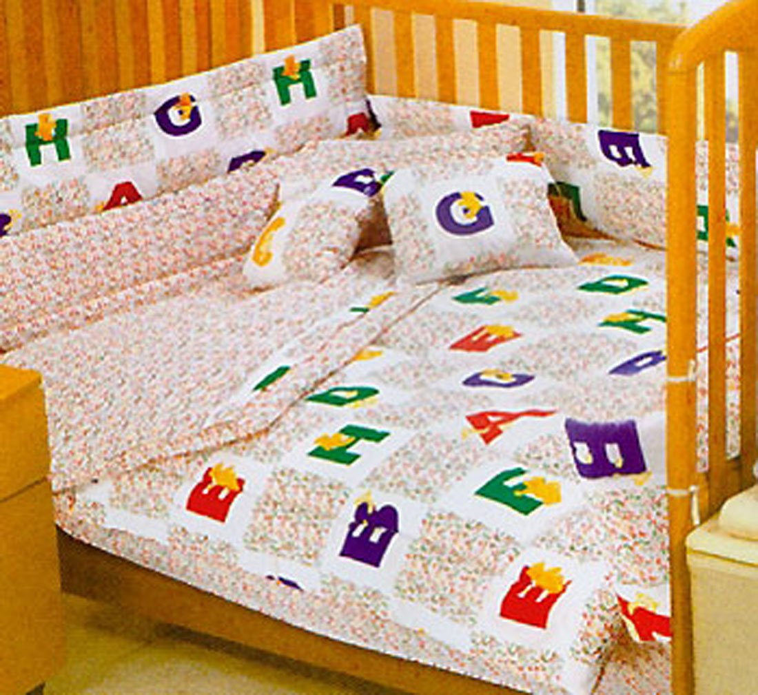 Alphabet Bears ABC Toddler Crib Comforter Set Nationwide 00CR-1-3-N08-12