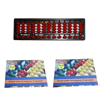 13 Rod Abacus Kit Single Color with 2 Workbook