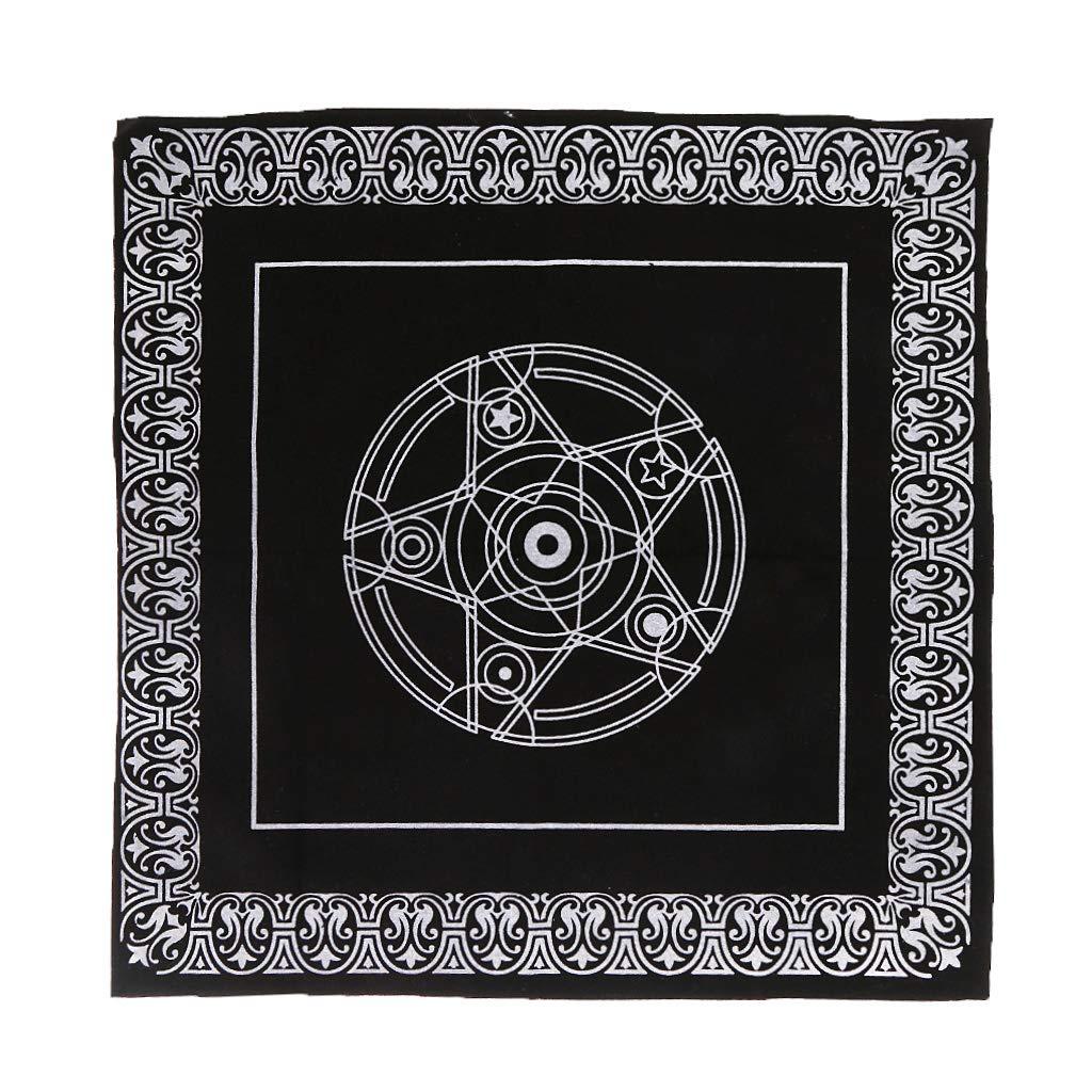 MM456 Nappe de Tarot en Velours pour autel - 49 x 49 cm