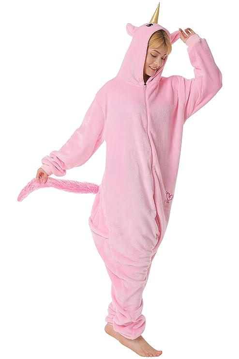 ecba917ab8 corimori Rose el Unicornio Pijamas Animal Traje de Una Pieza Disfraz Adultos  Invierno
