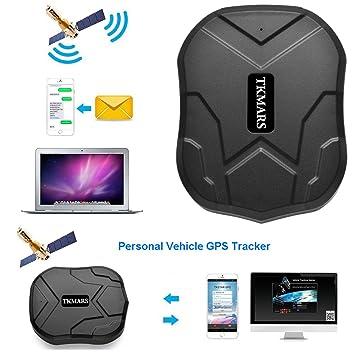Hangang GPS Tracker 3 meses en espera coche GPS en tiempo real antirrobo para vehículo con fuerte batería de imán 5000 mAh: Amazon.es: Electrónica