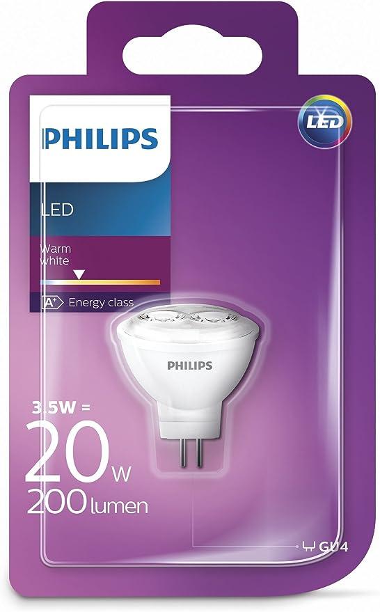 Philips LED Lampe ersetzt 20 W, warmweiß (2700K), GU4, 200 Lumen, Reflektor, 8718696571590