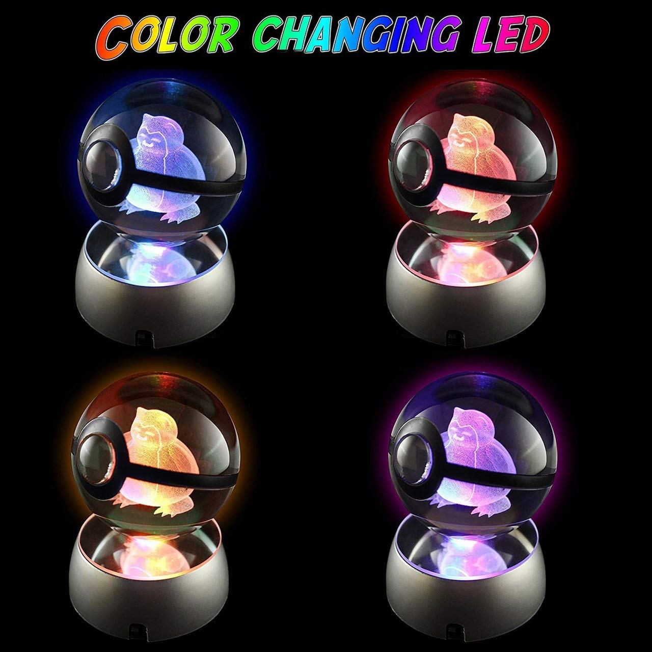 Amazon.com: Bola de cristal 3D LED de luz nocturna grande ...