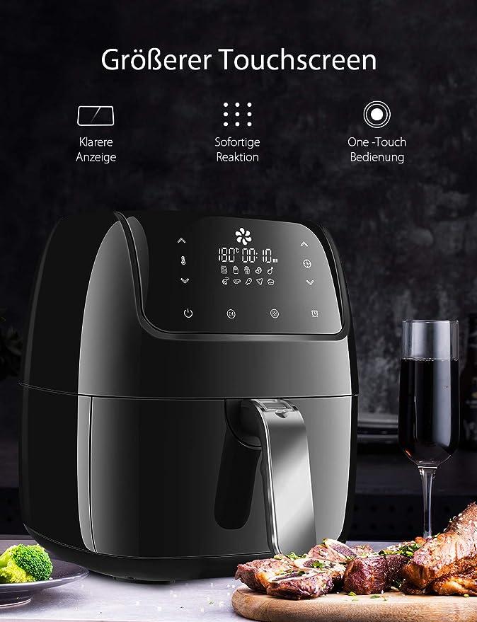 Freidora de aire caliente, willsence 3,5L 10 en 1 Intelligent Airfryer eléctrico de aceite Free freidora de aire caliente xxl eléctrica, pantalla táctil de ...