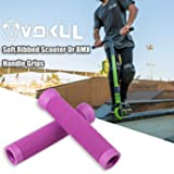 VOKUL Pro Scooter Handbar Grip,Non-Slip Scooter and BMX Bike Handle Grip with Bar Ends,Pro Stunt Scooter Flangeless Grips for Comfortable Riding with 145mm